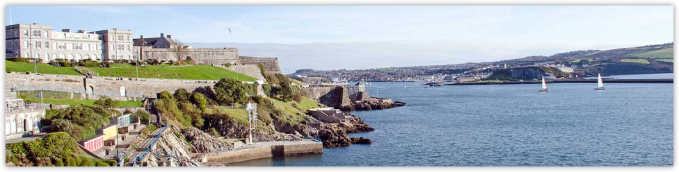 Plymouth Citadel and view